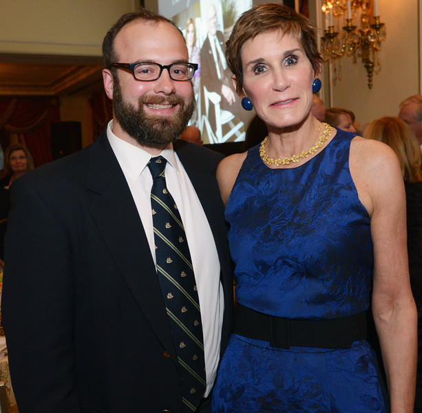 Christopher Child, Senior Genealogist of the Newbury Street Press, with Mary Matalin