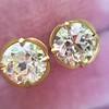 2.23ctw Old European Cut Diamond Stud Earrings 25