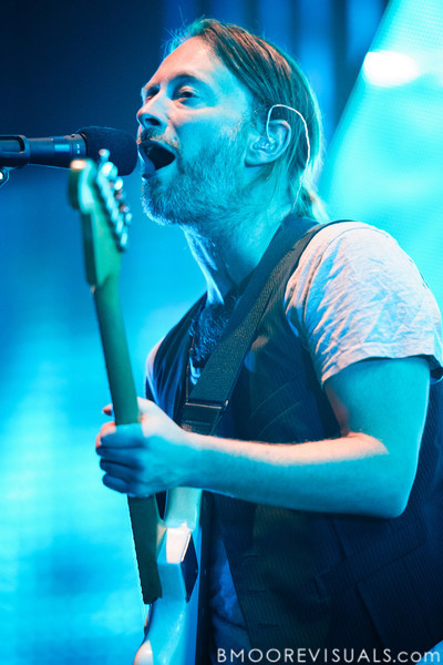 Thom Yorke of Radiohead performs on February 29, 2012 at Tampa Bay Times Forum in Tampa, Florida
