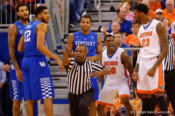 Florida Gators vs Kentucky Wildcats Mens Basketball  quick gallery 2-7-2015
