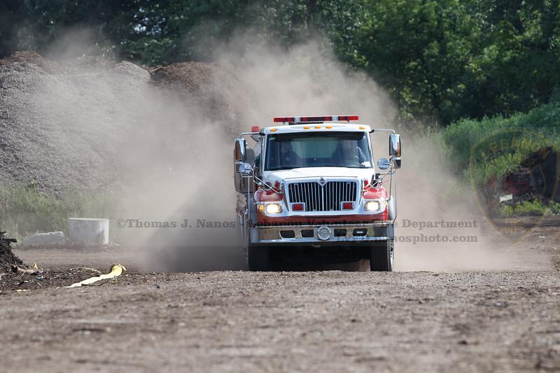 LVFD response - Mulch fire 20 Industrial Rd - Scott's Company
