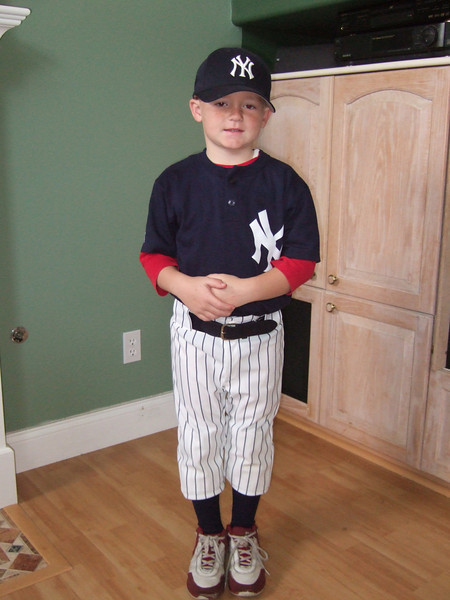 Christopher dressed as a Storybook Character during Lutheran Week at school. He chose Babe Ruth. Not a bad choice.
