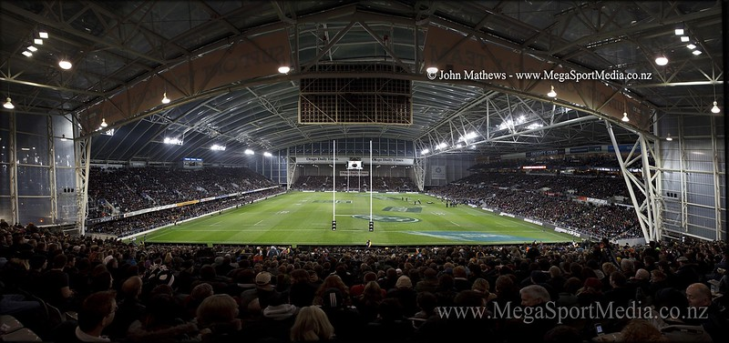 Image of the Forsyth Barr Stadium in Dunedin, New Zealand taken on 15 September 2012 during the test between the New Zealand All Blacks and the south Africa Springboks.