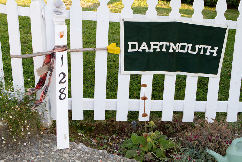 Driving in Los Gatos, a typical banner for a Dartmouth event identifies the venue.