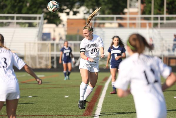 Albemarle versus Harrisonburg girls soccer 2018