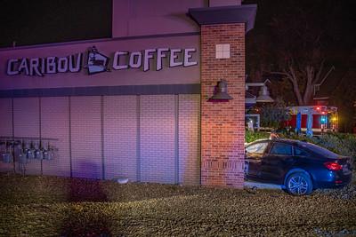 E. Hampden Ave. MVA into Caribou Coffee