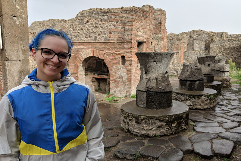 Victoria at Pompei bakery