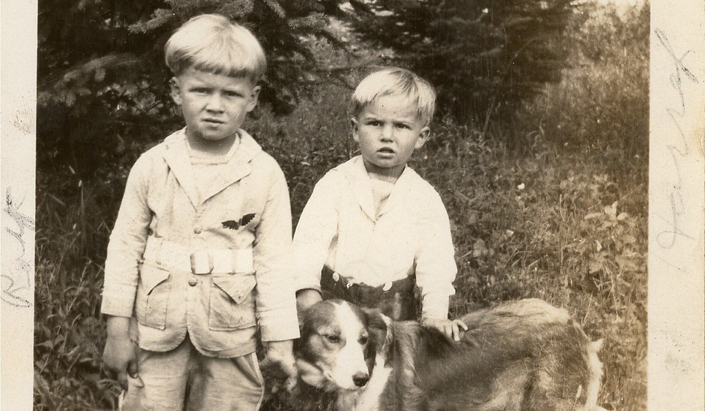 . JUST JENNIFER of West St. Paul: �When going through some old photos, I found this one of two boys and their dog, which was sent to my grandmother. On the back, it reads: �To Mrs. Otto Hohle From Mrs. Ed Christofferson; Roy Harry Christofferson taken July 1928.� You can faintly read in the margins of the photo that Roy is on the left and Harry is on the right. There is another name, which I assume is the dog�s name, but I cannot make it out. My grandmother�s dog was named Shep, but the writing doesn\'t look like that, and Shep had a narrower blaze. If Roy or Harry Christofferson or their descendants are interested in having the photo, please let me know. My grandmother lived in Grygla, Minnesota, so I\'m assuming they were friends up there.�