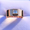 0.40ct Carre Cut Rose Gold Band 7