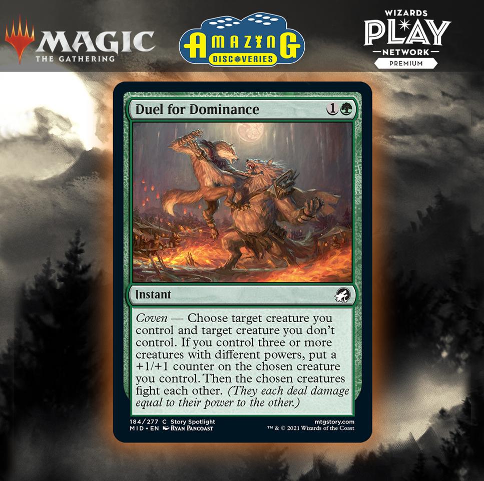 Duel for Dominance MTG card, Innistrad: Midnight Hunt