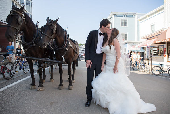 Jenna + Brendan Mackinac Wedding Photography