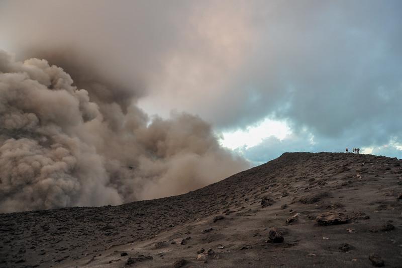 Walking on the Rim: Yasur Volcano