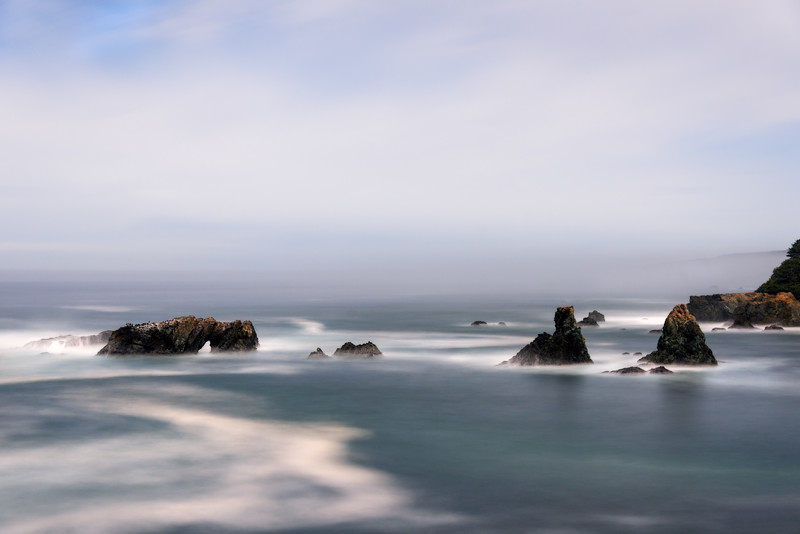 Arch Rock by Moonlight, Sea Ranch, California