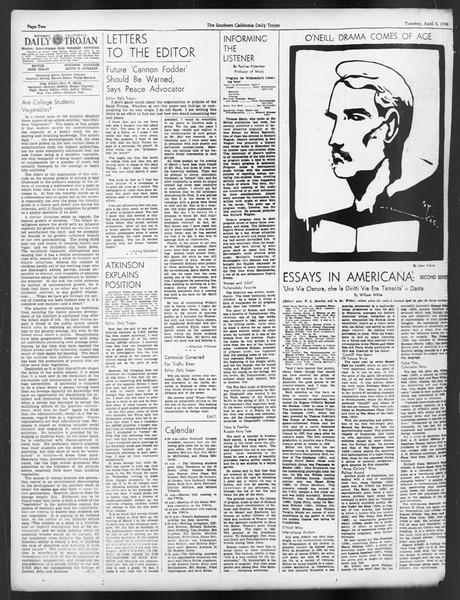 Daily Trojan, Vol. 29, No. 113, April 05, 1938
