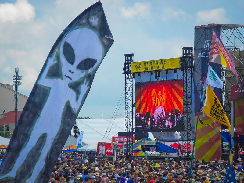 Aliens at Jazz Fest