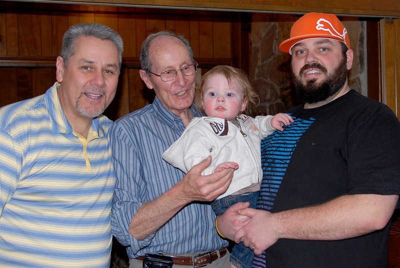 2011/3/28b – I don't normally post more than one photo for a day, but we had four generations together for my dad's birthday. I had Jessica take this shot for Olin so he can always remember his great grandpa Elvin.