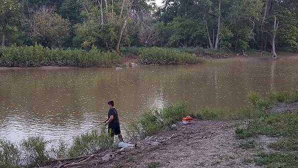 Fishing at Side Cut Park July 21, 2017
