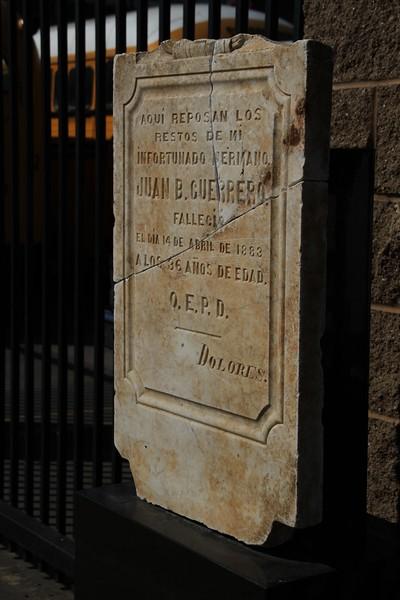1883, Juan Guerrero Tombstone
