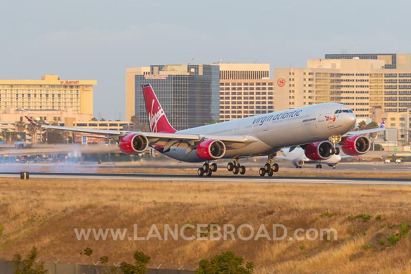 Virgin Atlantic A340-600 - G-VWKD - LAX