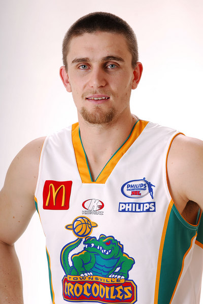 27 JUL 2006 - Andrew Rice #9 (Forward, 205cm, 108kg) - Away playing strip - Townsville McDonald's Crocodiles players/staff photos - PHOTO: CAMERON LAIRD (Ph: 0418 238811)