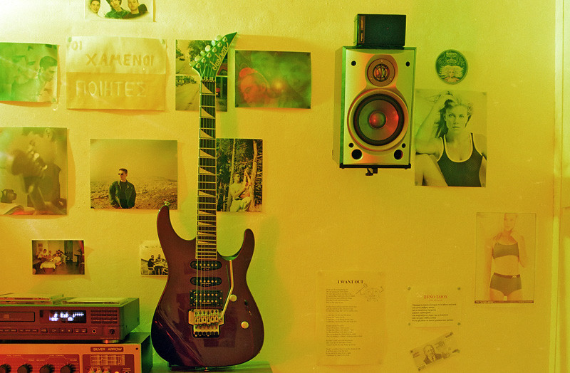 My basement room/studio in my family house in Athens (2002)
