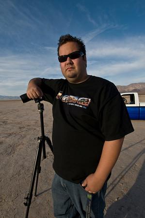 Photographers in the desert