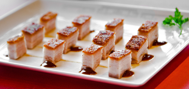 Barbecued pork belly