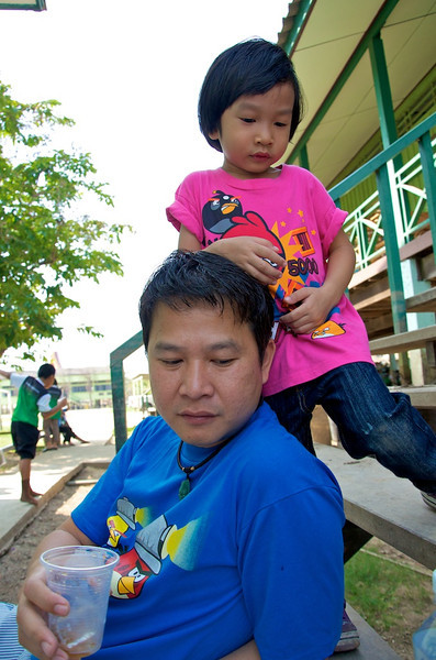 KK taking a break…on daddy's head??.jpg