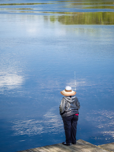Lone Fisherwoman