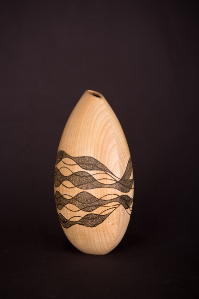 Haskell turned wood vessels