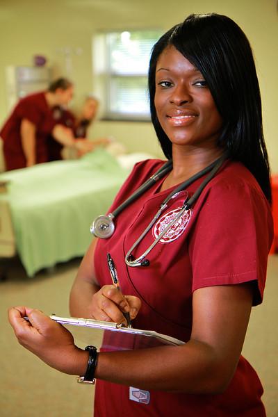 Nursing Photos inside the North Main Street Lab; Spring 2012.