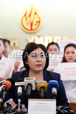 Монголын эрүүл мэндийн ажилтны ҮЭ-ийн холбооноос мэдээлэл хийлээ