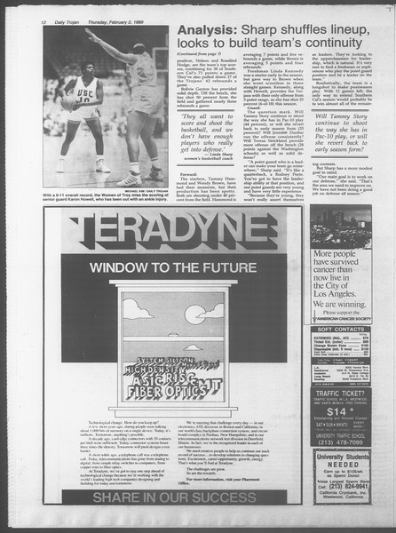 Daily Trojan, Vol. 108, No. 15, February 02, 1989