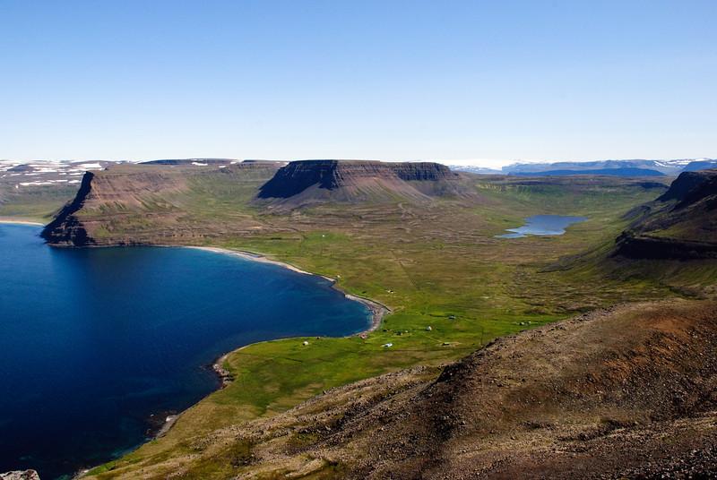 Aðalvík. Þverdalur. Staðarvatn