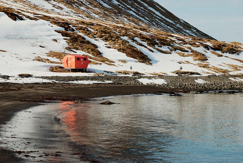 Hornvík - Neyðarskýli.
