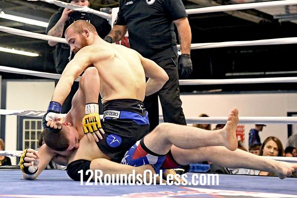 Bout 5 Ama MMA Colin Caprini, Black Trunks -vs- Tommy Burton, Blue Trunks, 155 Lbs