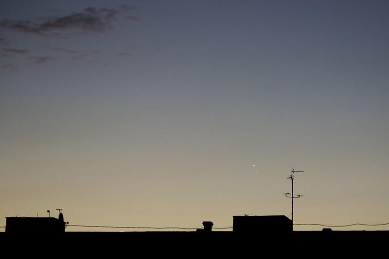 Jupiter a Venuše 18.8.2014, 5:20 SELČ