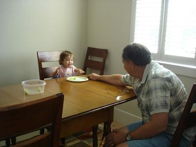 Grandma Lee and Papa Reggie Visit