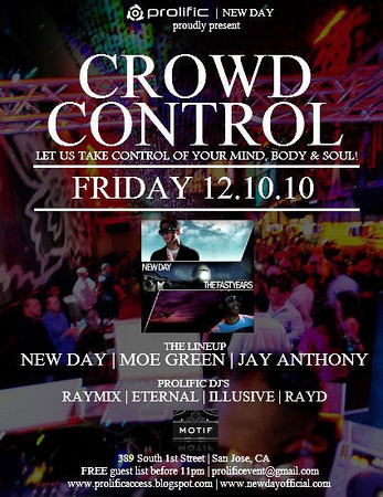 Prolific & New Day presents CROWD CONTROL @ MOTIF Lounge 12.10.10