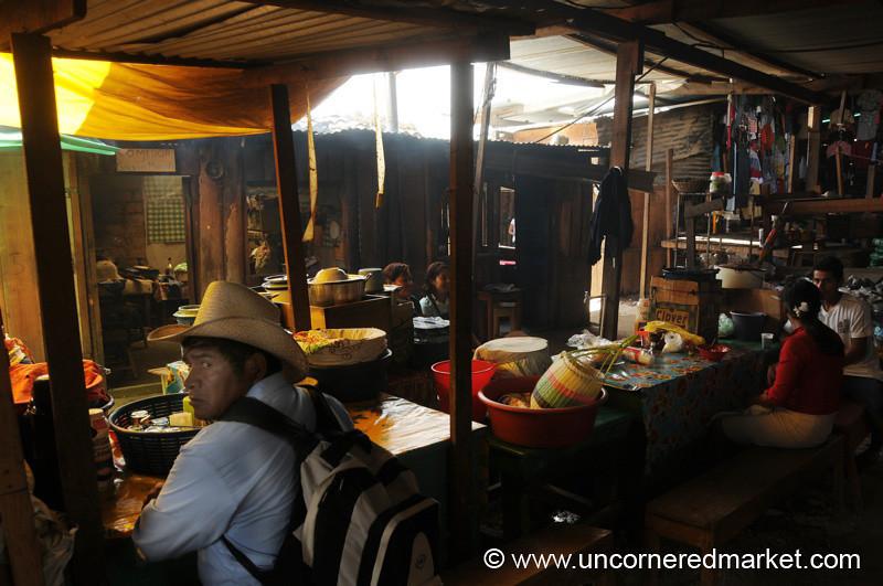 Market Street Food Scene - La Esperanza, Honduras