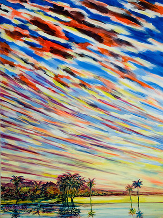 "©John Rachell  Title: Sky, August 16, 2006 Image Size: 36""w X 48""d Date: 2006 Medium & Support: Oil paint on canvas Signed: LL Signature"