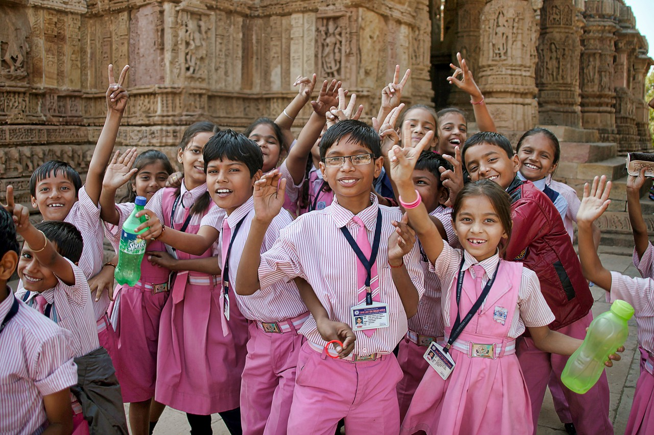 Ahmedabad India Sun Temple students