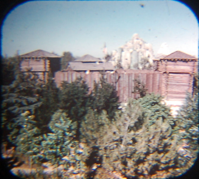 1959 Viewmaster of Fort Wilderness on Tom Sawyer's Island from the Mark Twain ride.