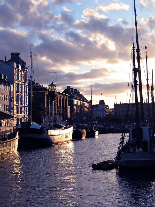 Nyhavn, Copenhagen in the evening
