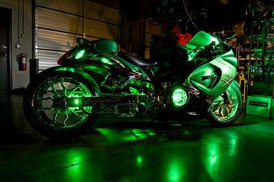 All things Chrome Green Bike