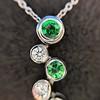 Tiffany & Co. Diamond and Tsavorite Bubble Pendant 19