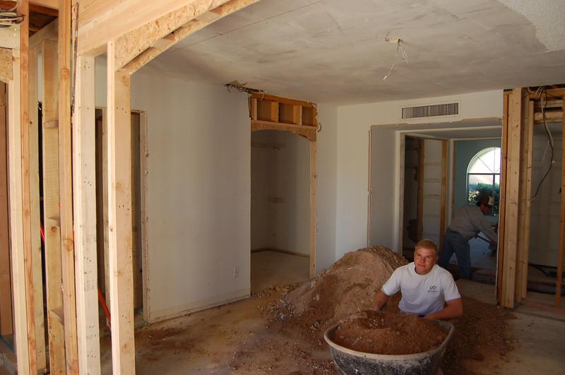 Master bedroom, looking toward the door, with the guest bedroom beyond.