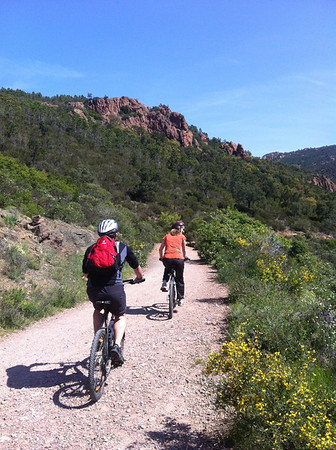 Esterel Mountain Biking with Malc and Jules 10/5/2012