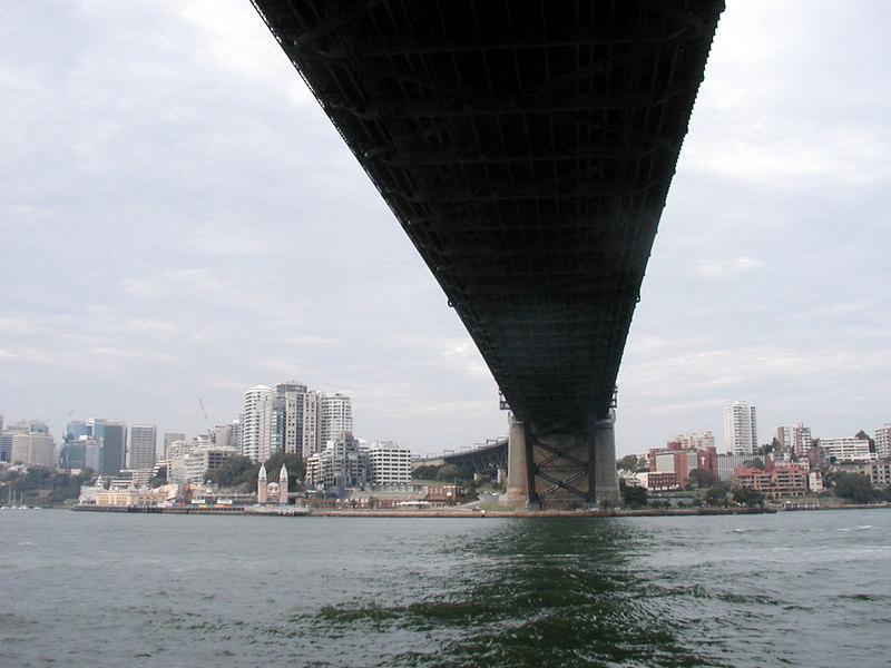 42. Under the Sydney Harbor Bridge.JPG