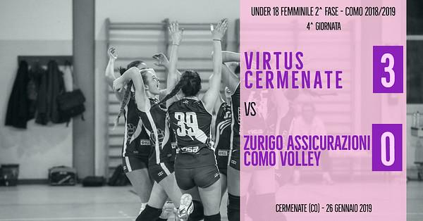 CO-U18f-2f: 4^ Virtus Cermenate - Como Volley